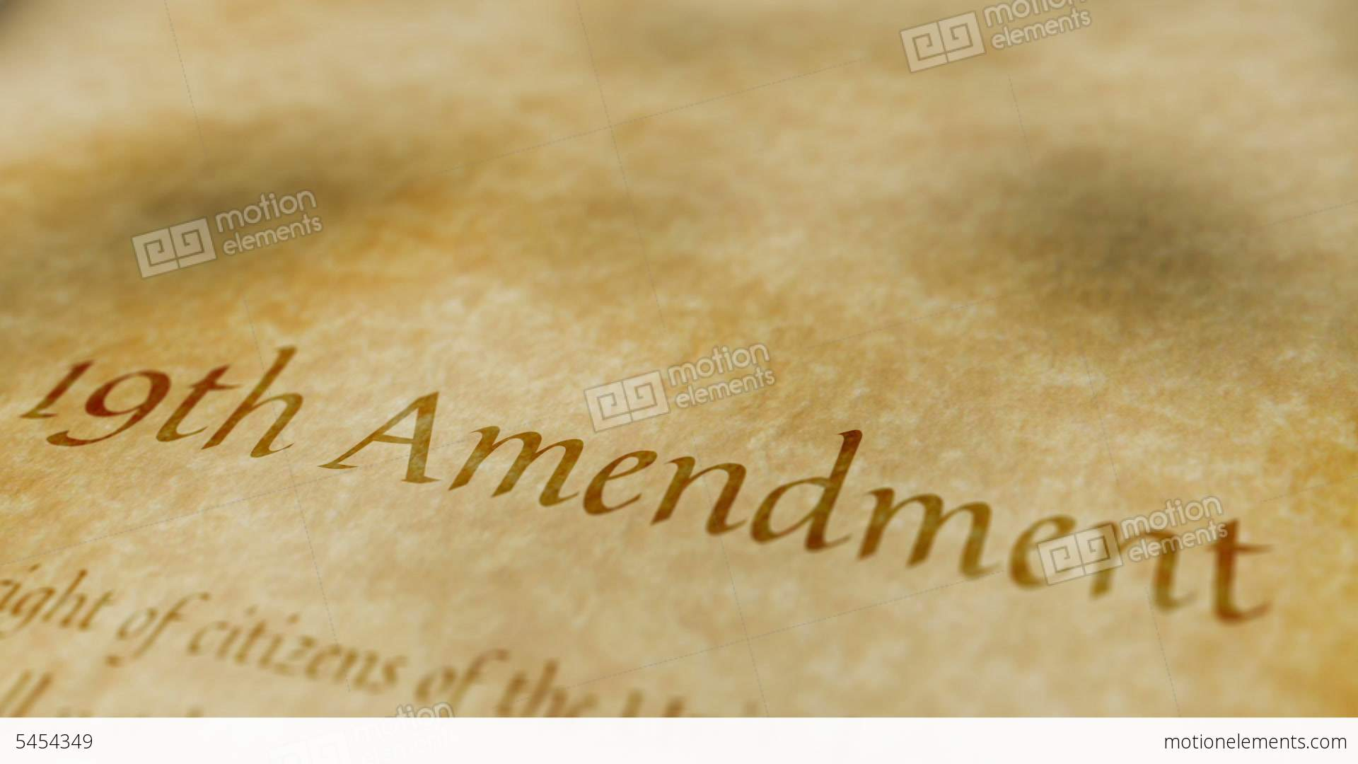 Nineteenth Amendment to the United States Constitution