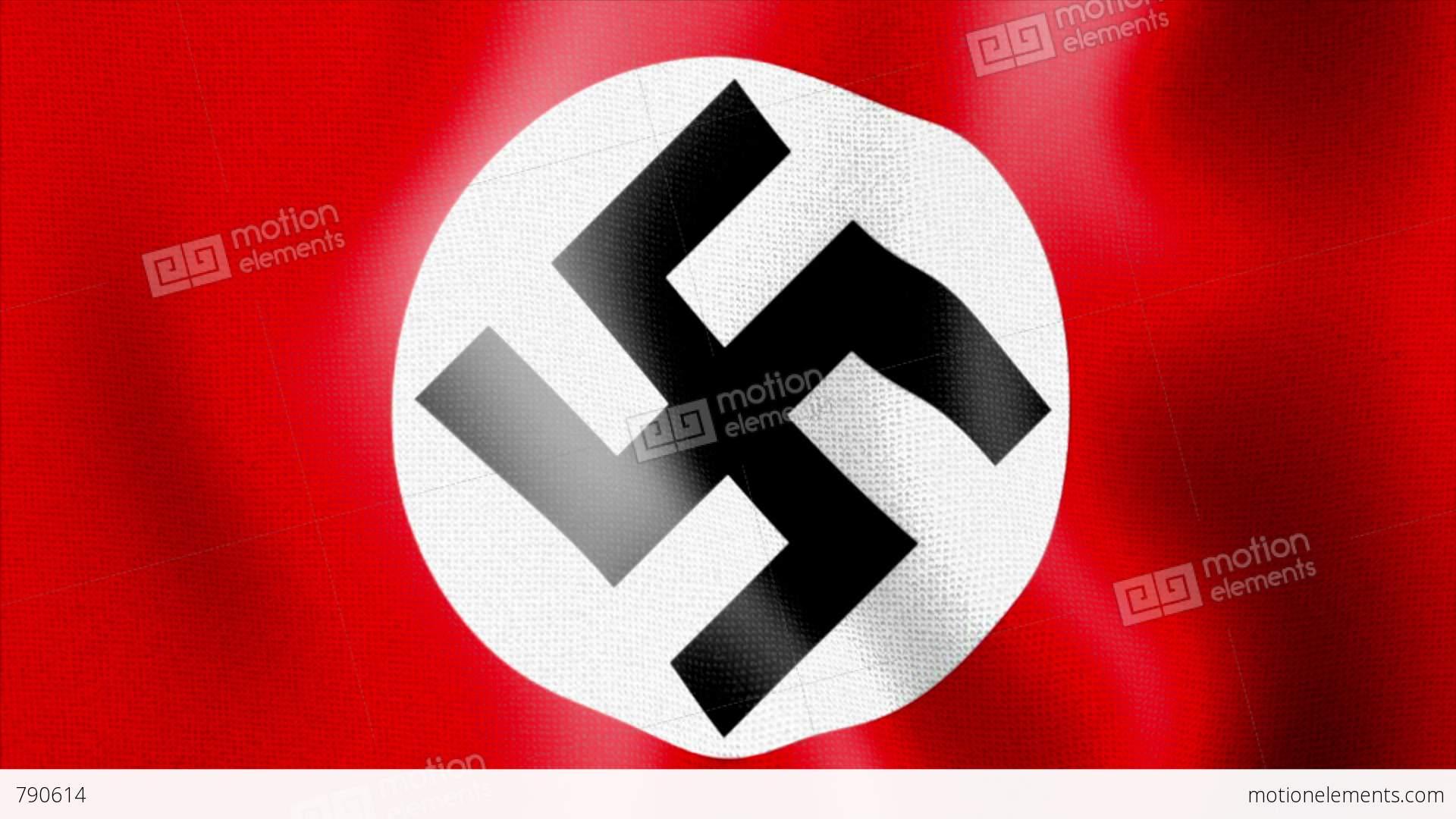 House Technology 10675 Waving Swastika Nazi Flag Stock Animation 790614