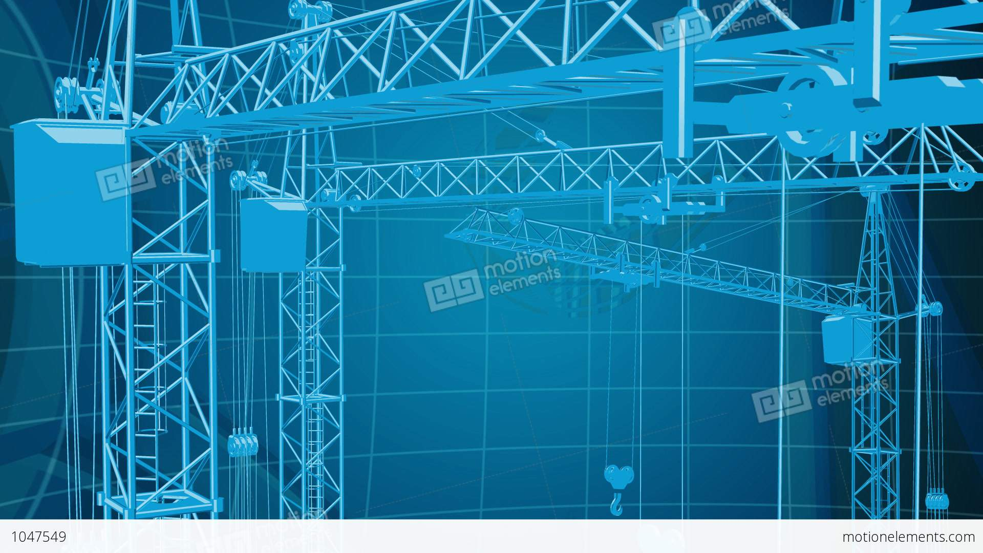 Construction Background 3 Stock Animation