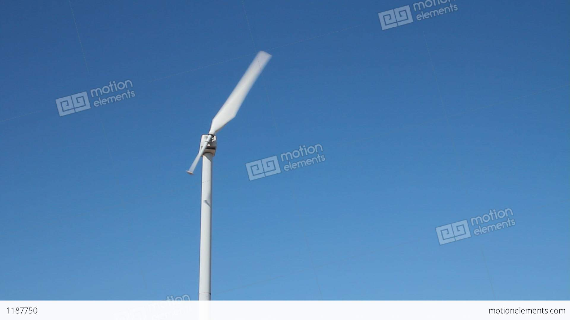 Static Shot A Single Blade Wind Turbine Stock video footage