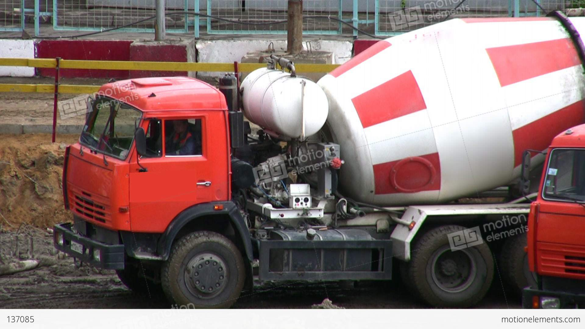 cement mixer stock video footage 137085. Black Bedroom Furniture Sets. Home Design Ideas