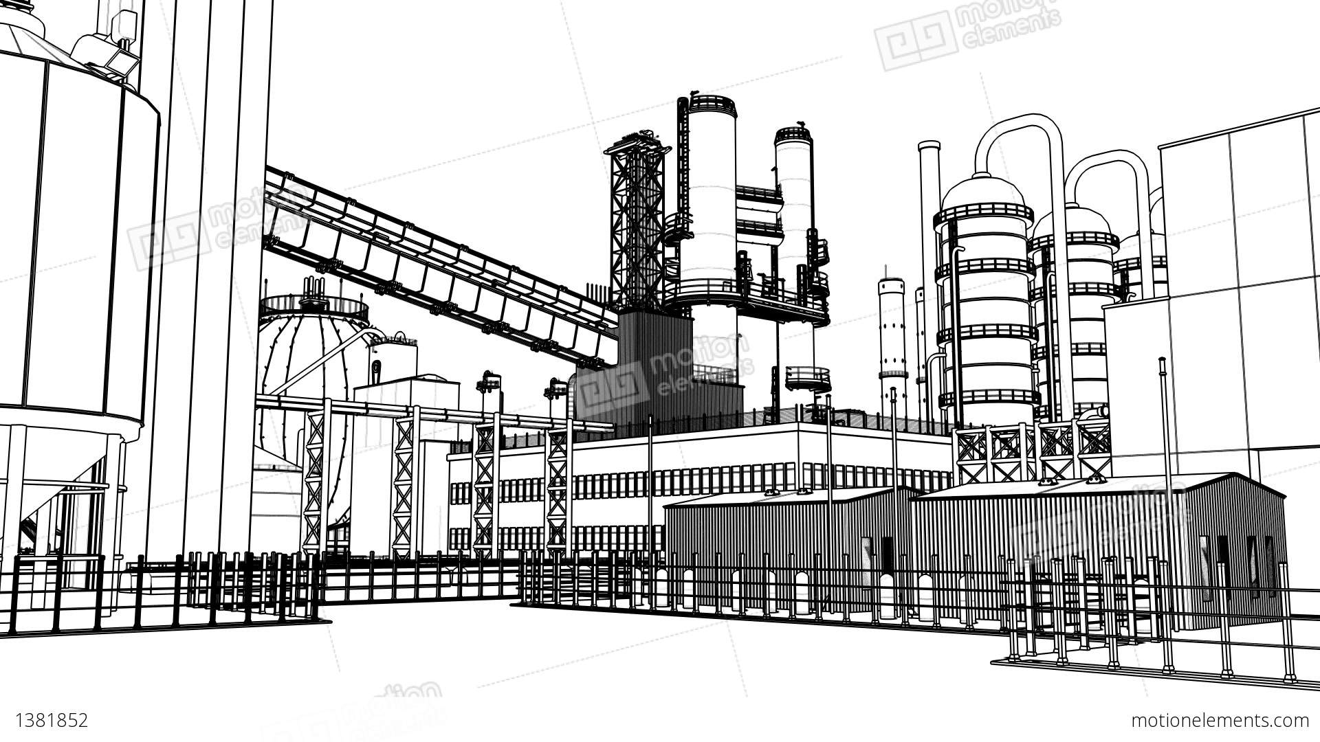 Chemical Plant Stock Animation 1381852