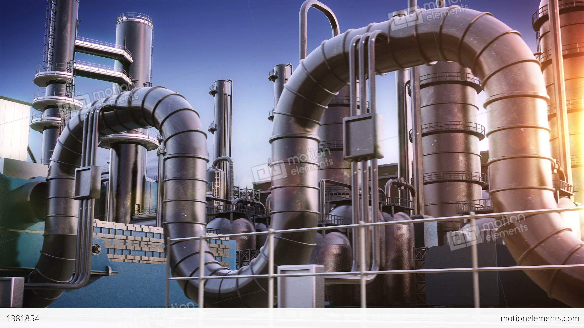 Chemical Plant Stock Animation 1381854
