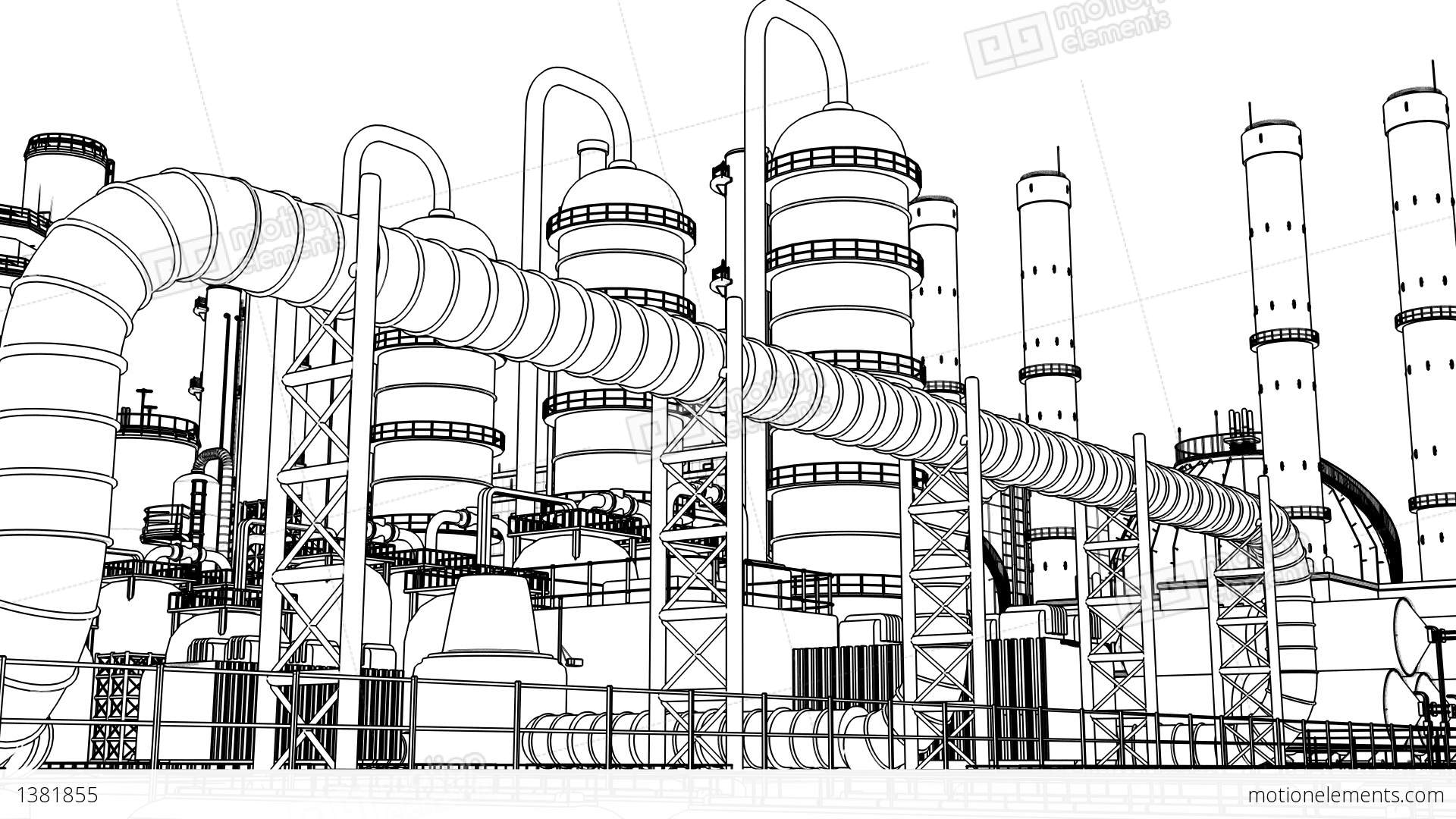 chemical plant stock animation