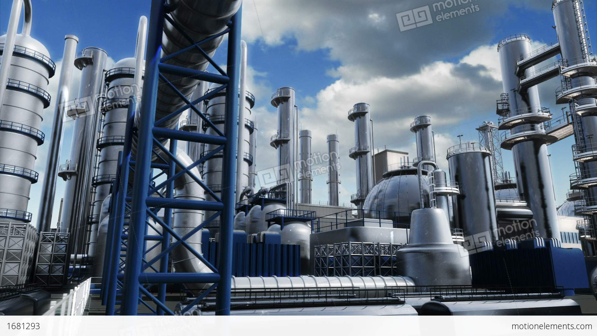 Chemical Plant Stock Animation 1681293