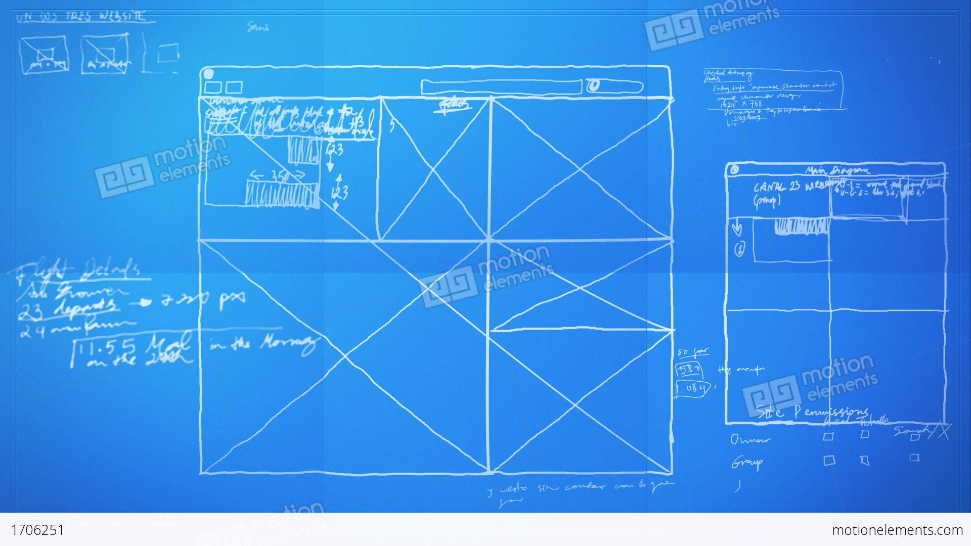 Graphic design layout process time lapse blueprint stock for Web design blueprints