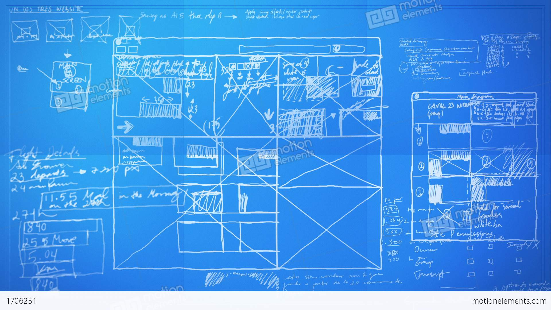 Graphic Design Layout Process Time Lapse Blueprint Stock