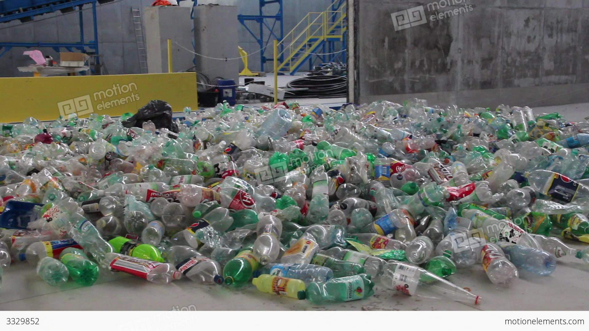 Recycling Plastic Bottles Recycling Plastic Bottles At Recycling Center 4 Stock Video