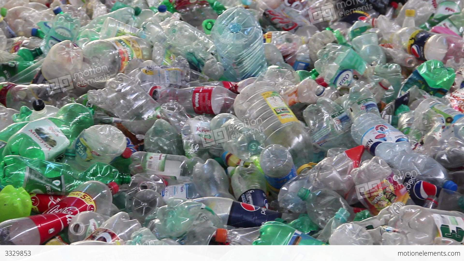 Recycling Plastic Bottles At Recycling Center 5 Stock video