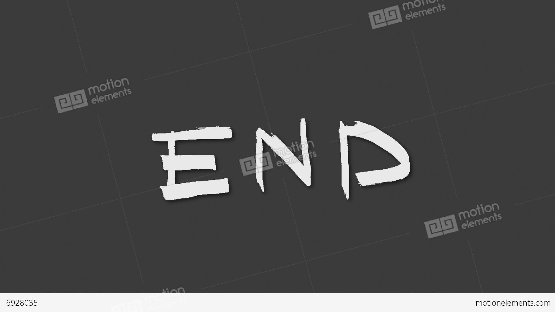 The End Stock Animation 6928035