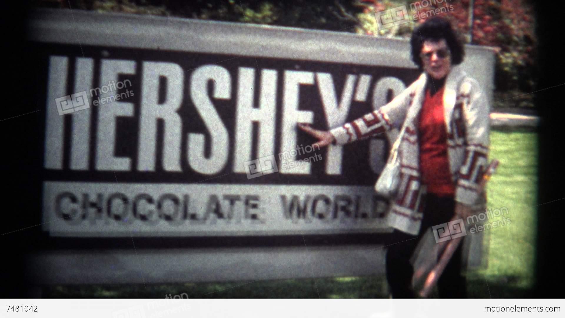 super 8 film hershey chocolate visit 1974 stock video. Black Bedroom Furniture Sets. Home Design Ideas