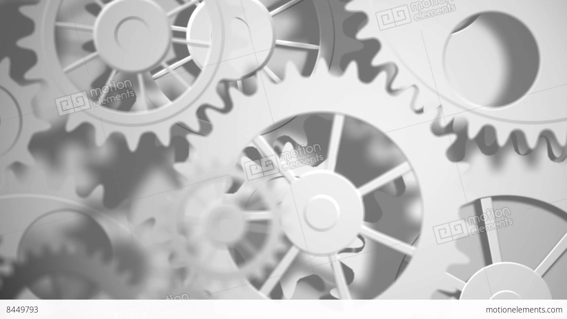 cogs and wheels turning stock animation