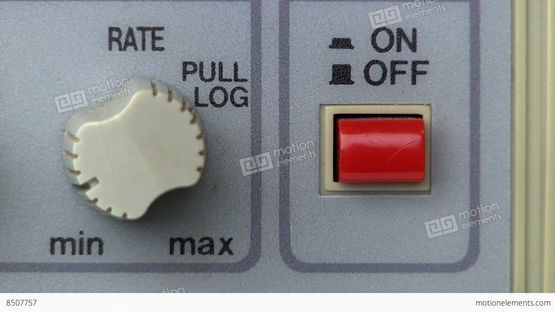 Power Button Turn On Off Signal Generator Stock Video Footage 8507757 And
