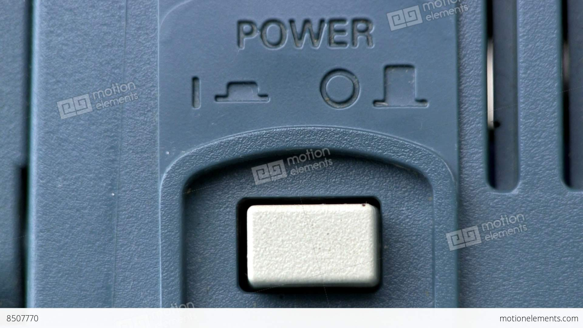Power Button Turn On/off; Oscilloscope Stock video footage | 8507770