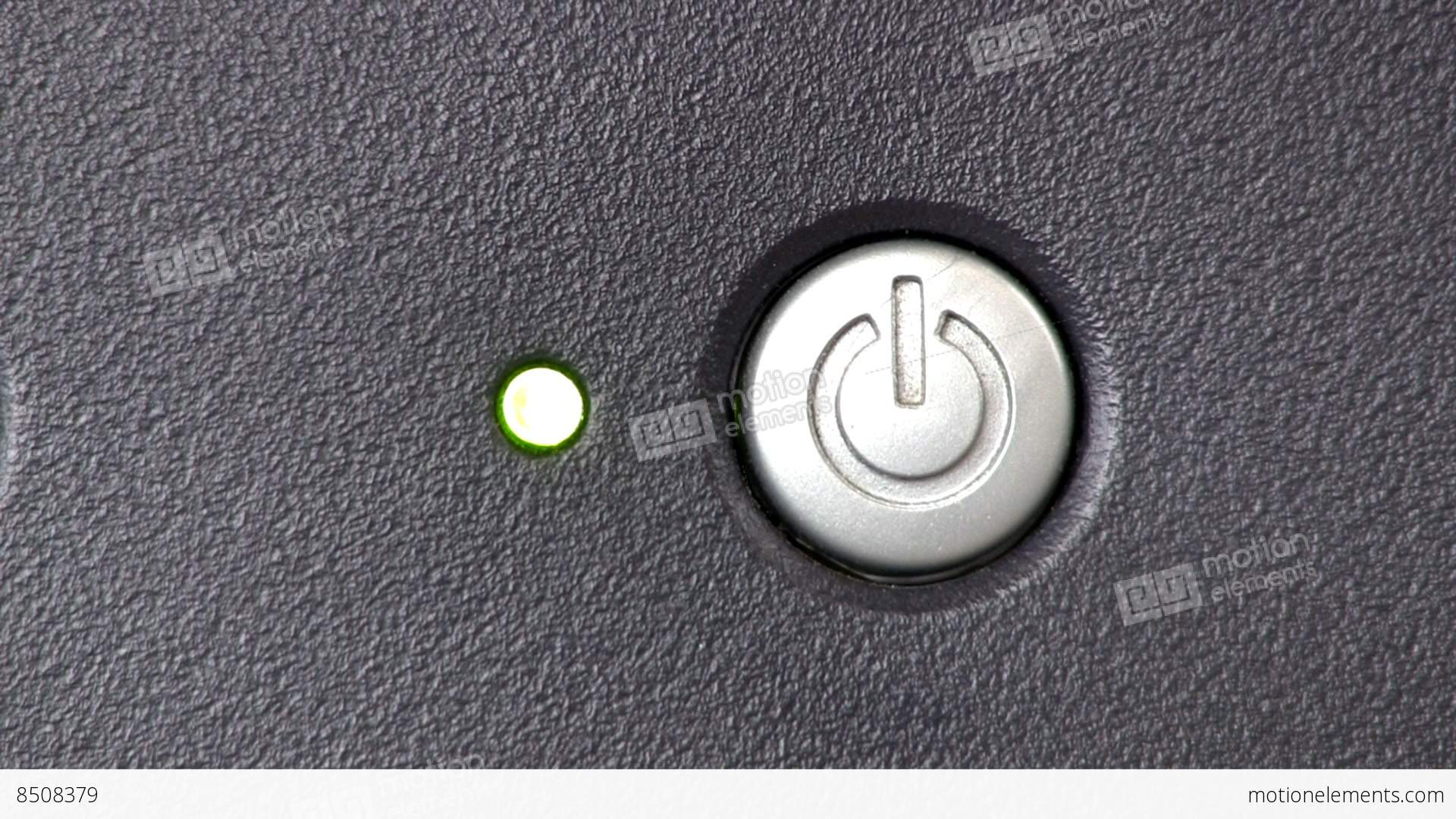 Power Button Turn On Off Computer Monitor Stock Video Footage