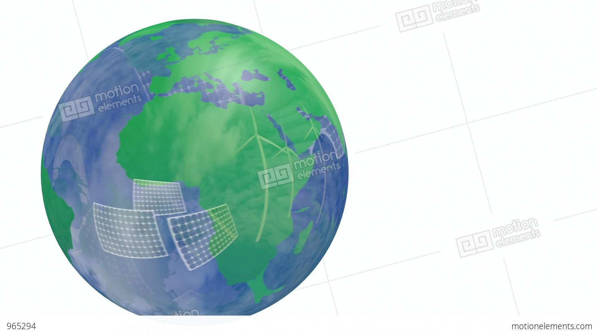 Renewable Energy Earth Globe Stock Animation 965294