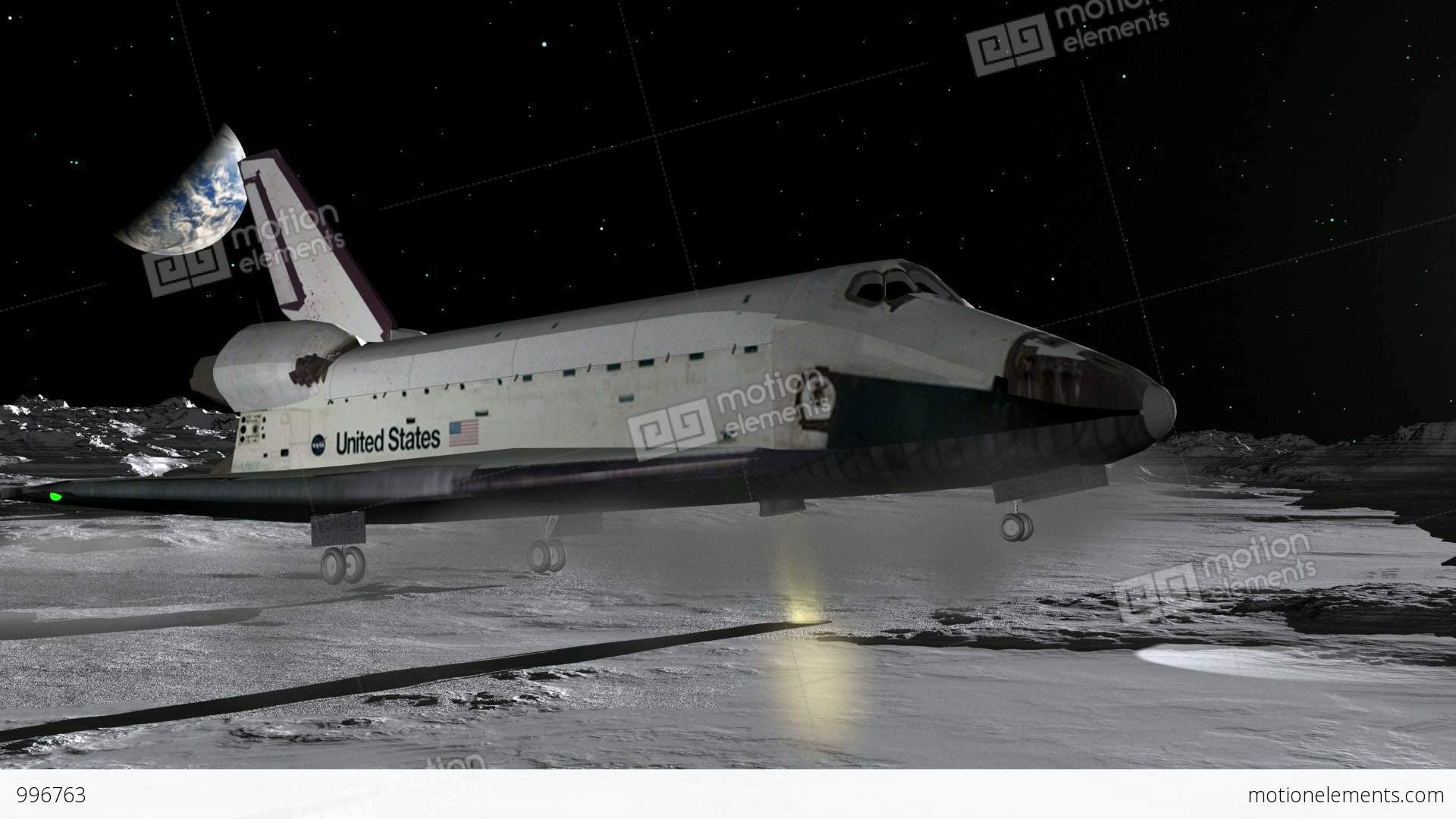 space shuttle crashing on the moon - photo #3