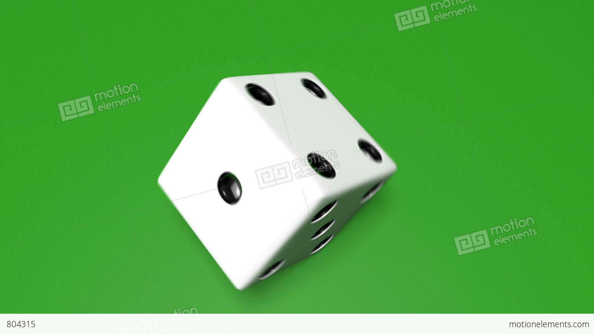 3d dice roll 01 stock animation