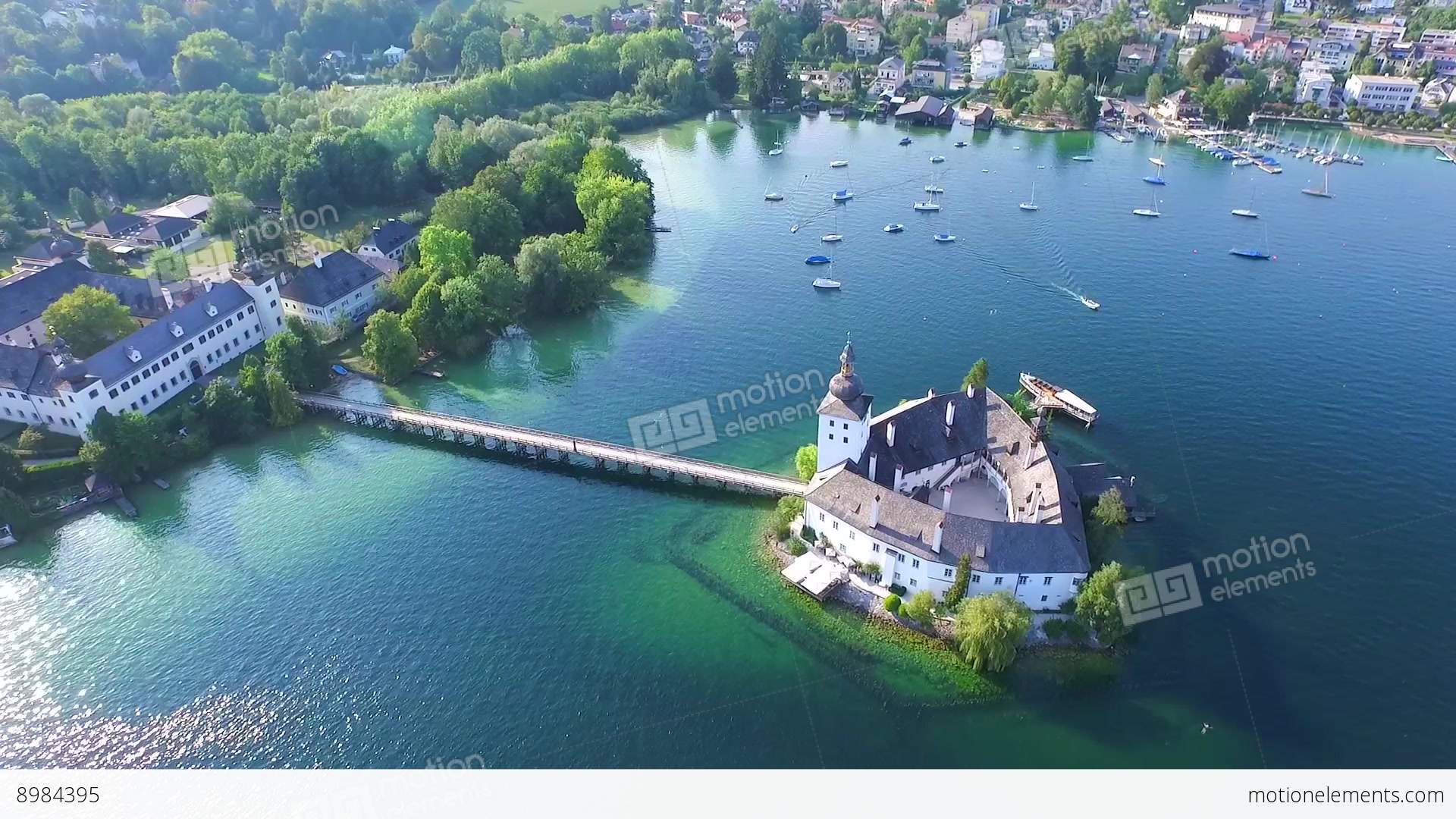 Design A House App Gmunden Traunsee Lake Austria Summer Stock Video Footage