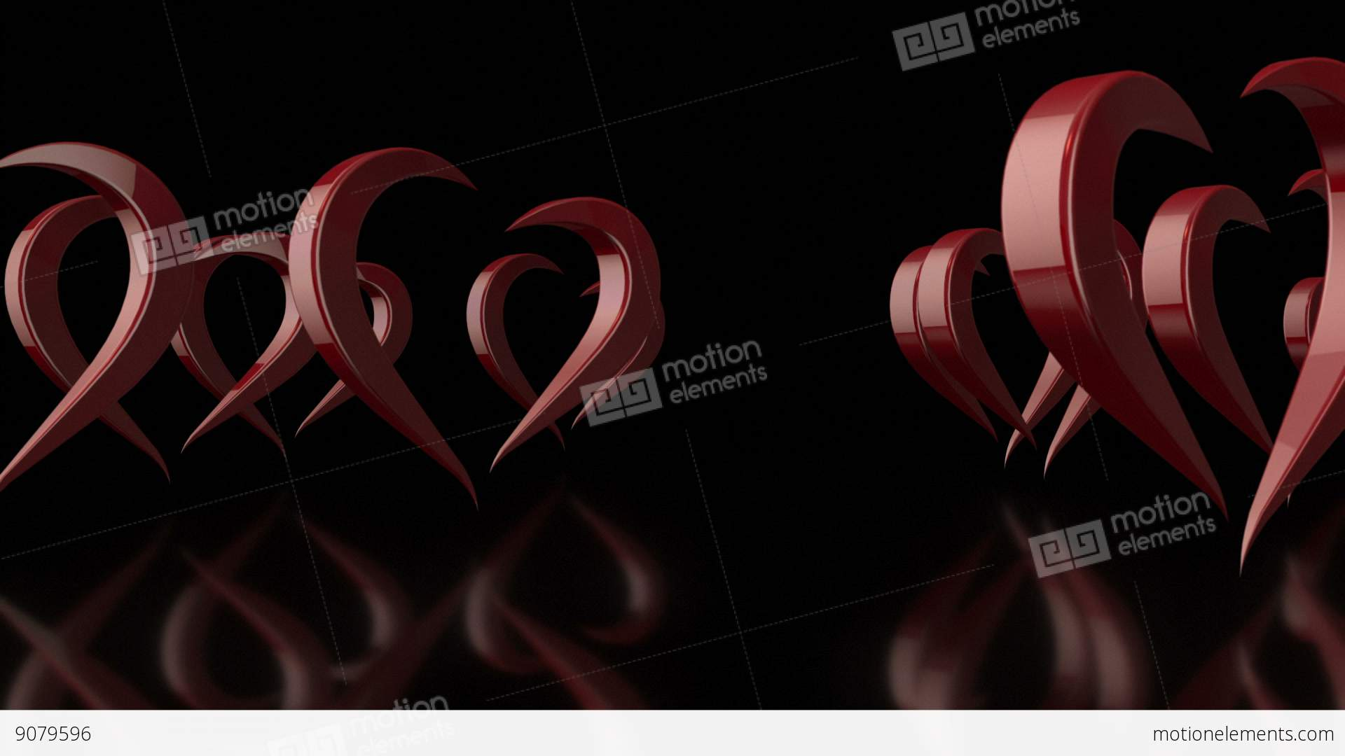 Background image rotate 90 -  Alt Video 3d Stylized Rotating Love Hearts In Black Background