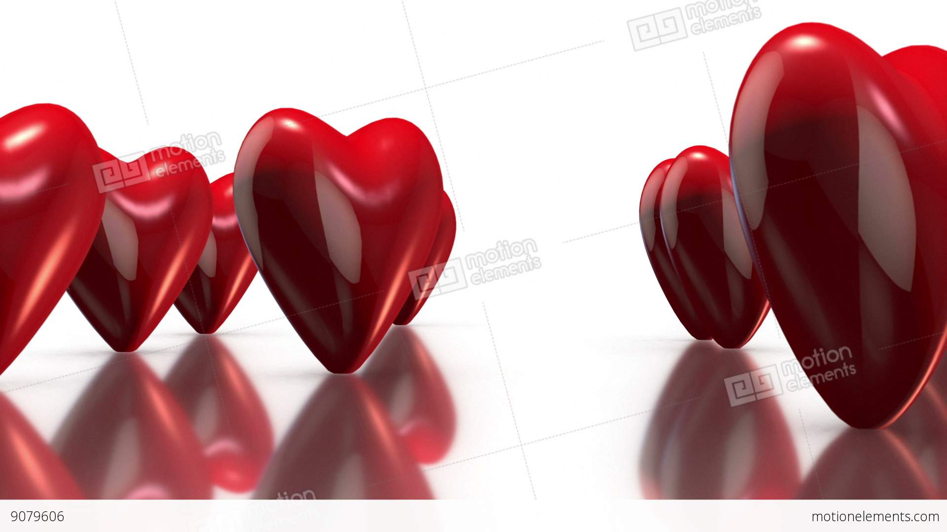 Background image rotate 90 -  Alt Video 3d Rotating Love Hearts In White Background