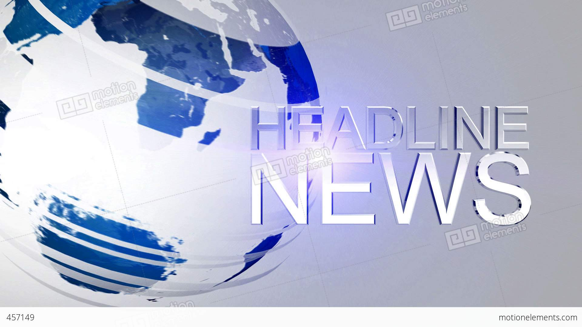 News: Headline News Animation HD Blue Stock Animation
