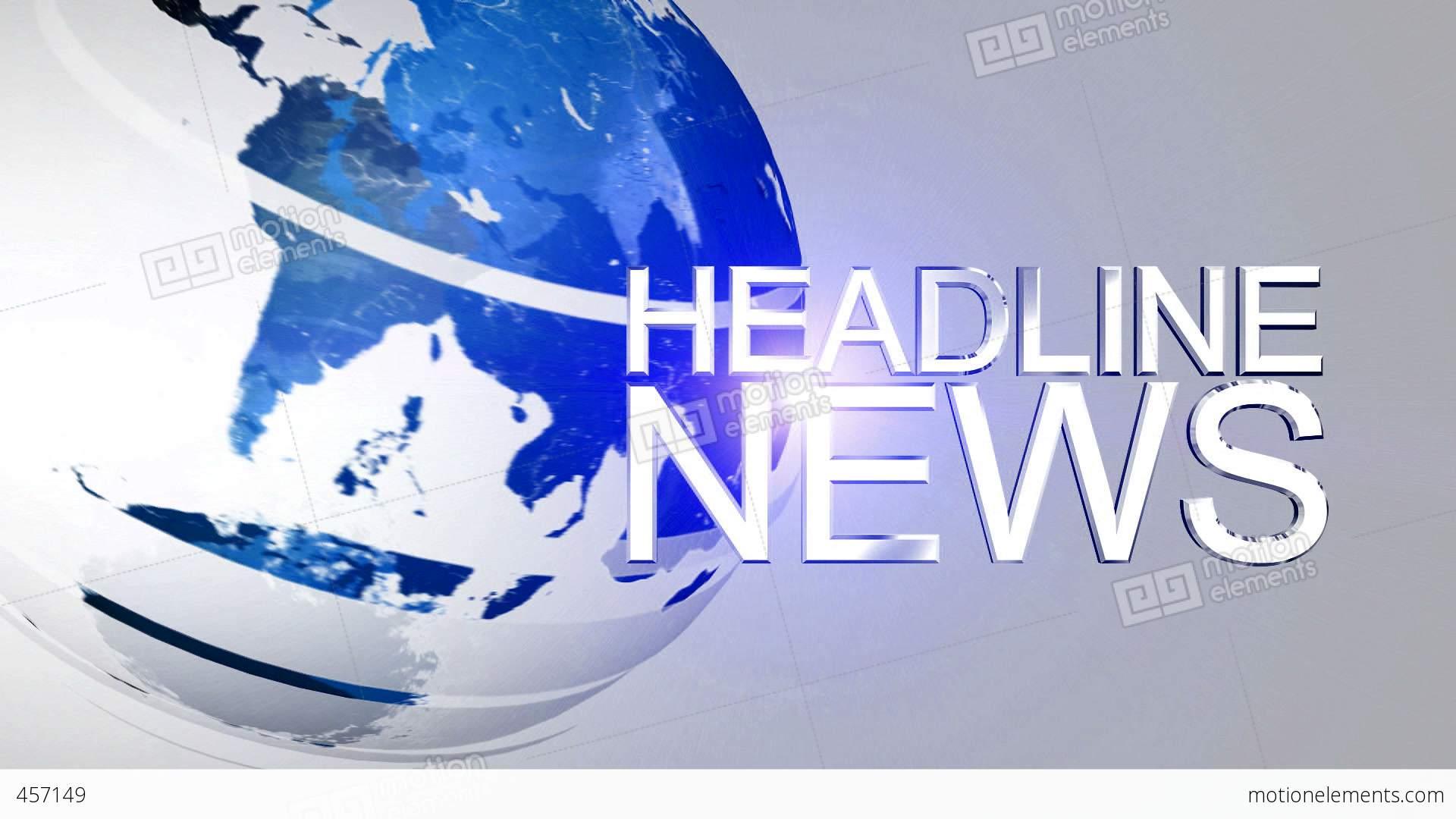 Headline News Animation HD Blue Stock Animation   457149
