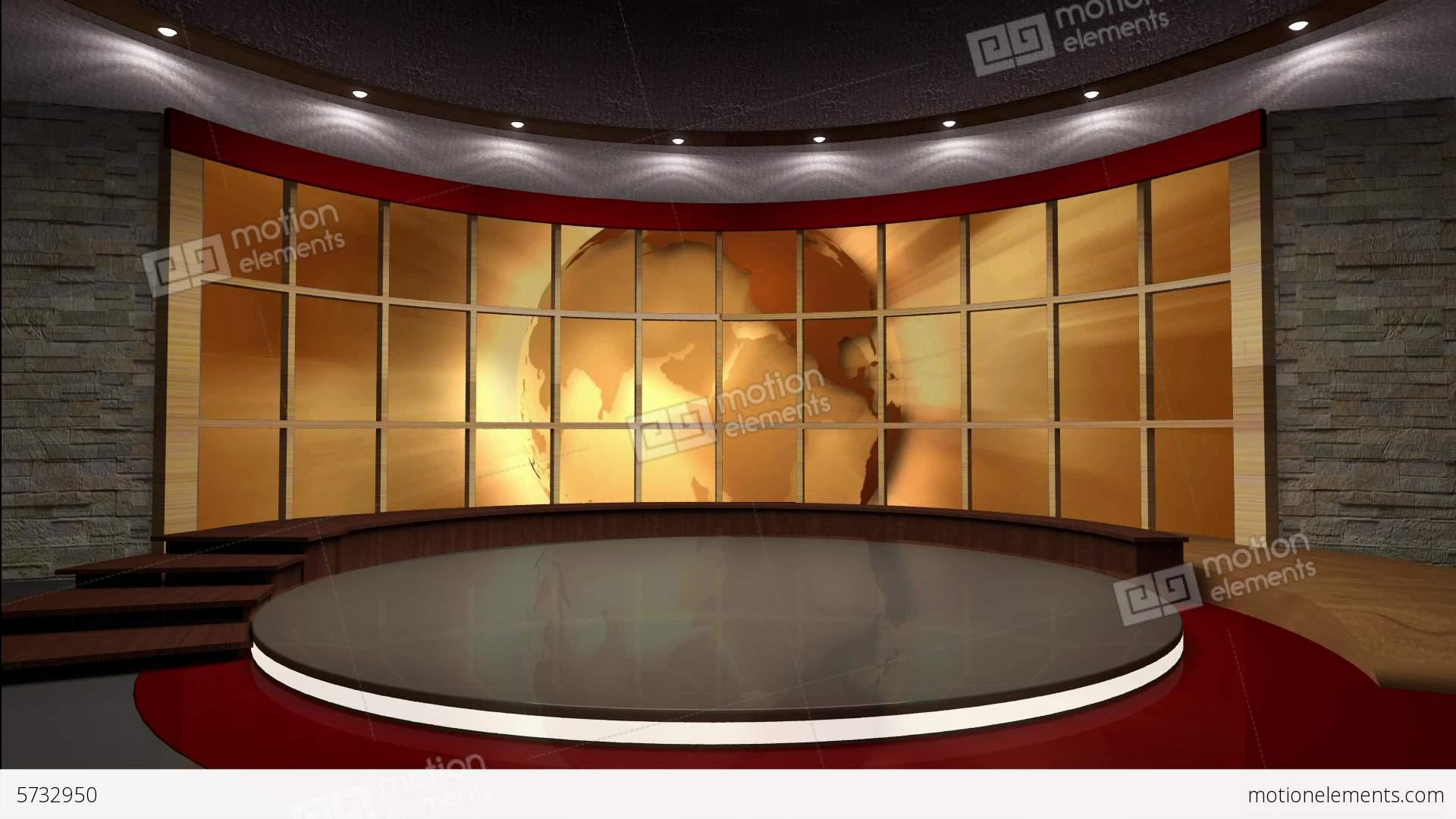 Classical House Design News Tv Studio Set 39 Virtual Green Screen Backgro Stock