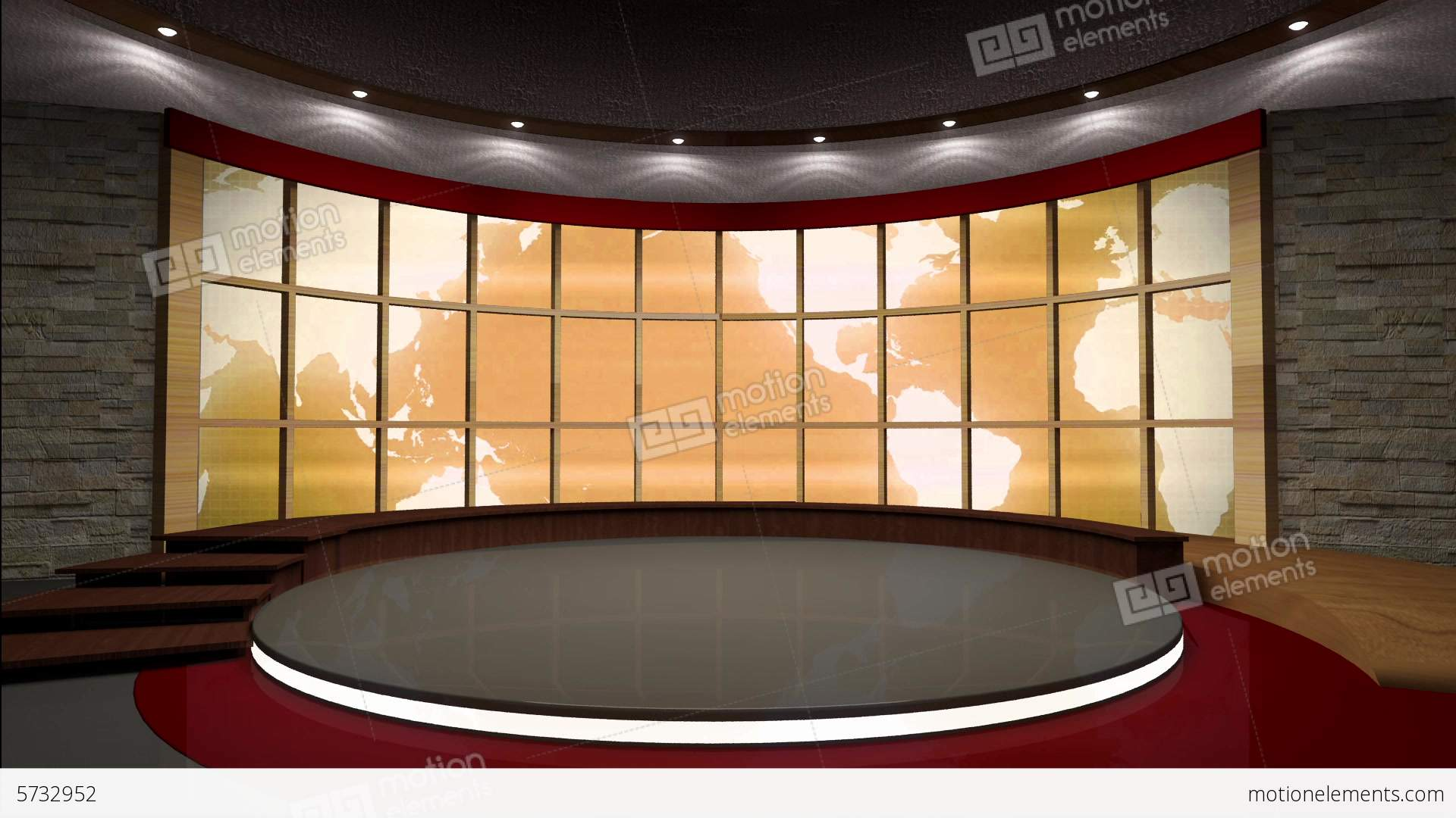 Virtual Sets Backgrounds Special effects Newsroom Green