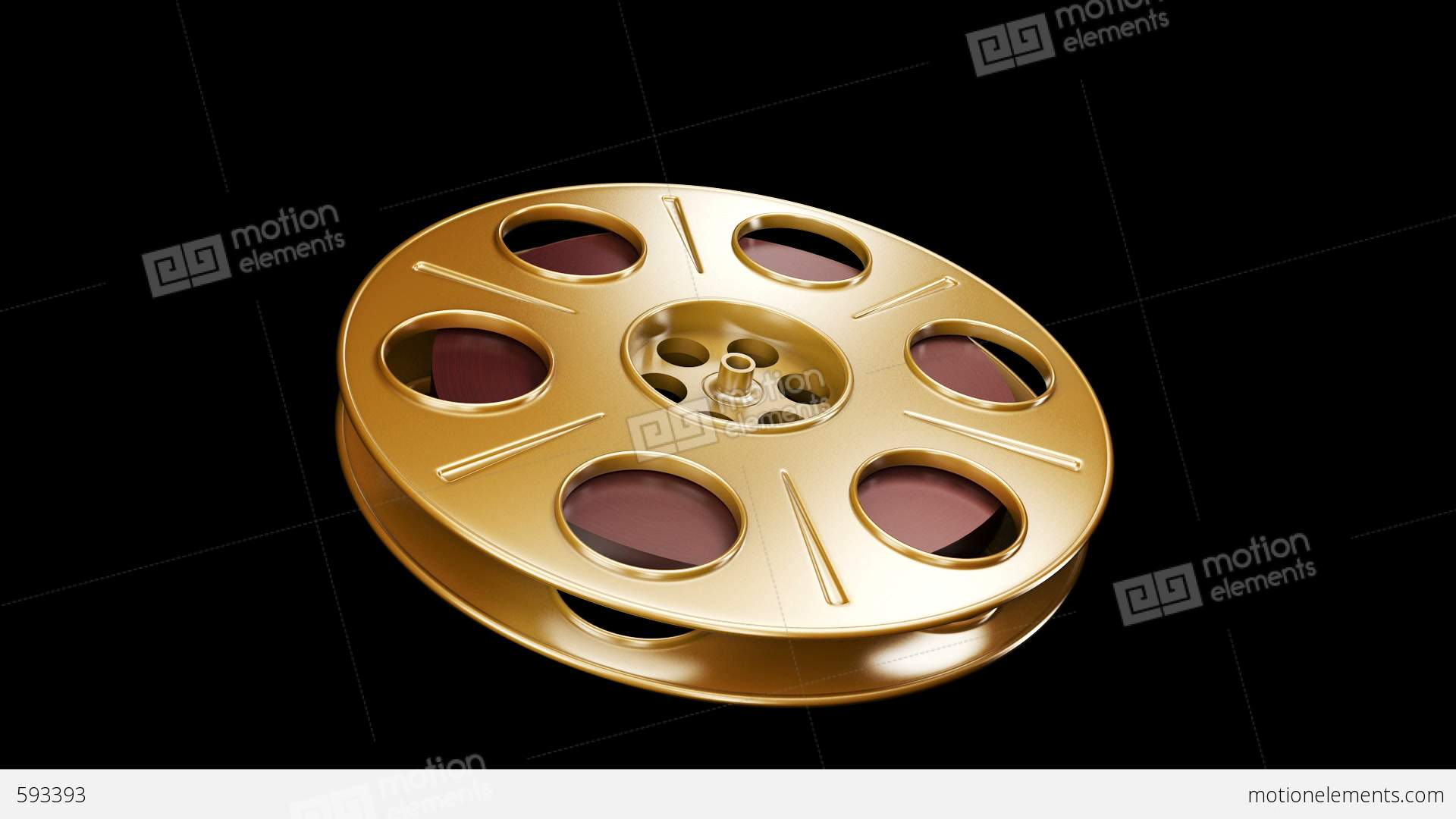 Spining film reel golden stock animation 593393 spining film reel golden stock video footage jeuxipadfo Image collections