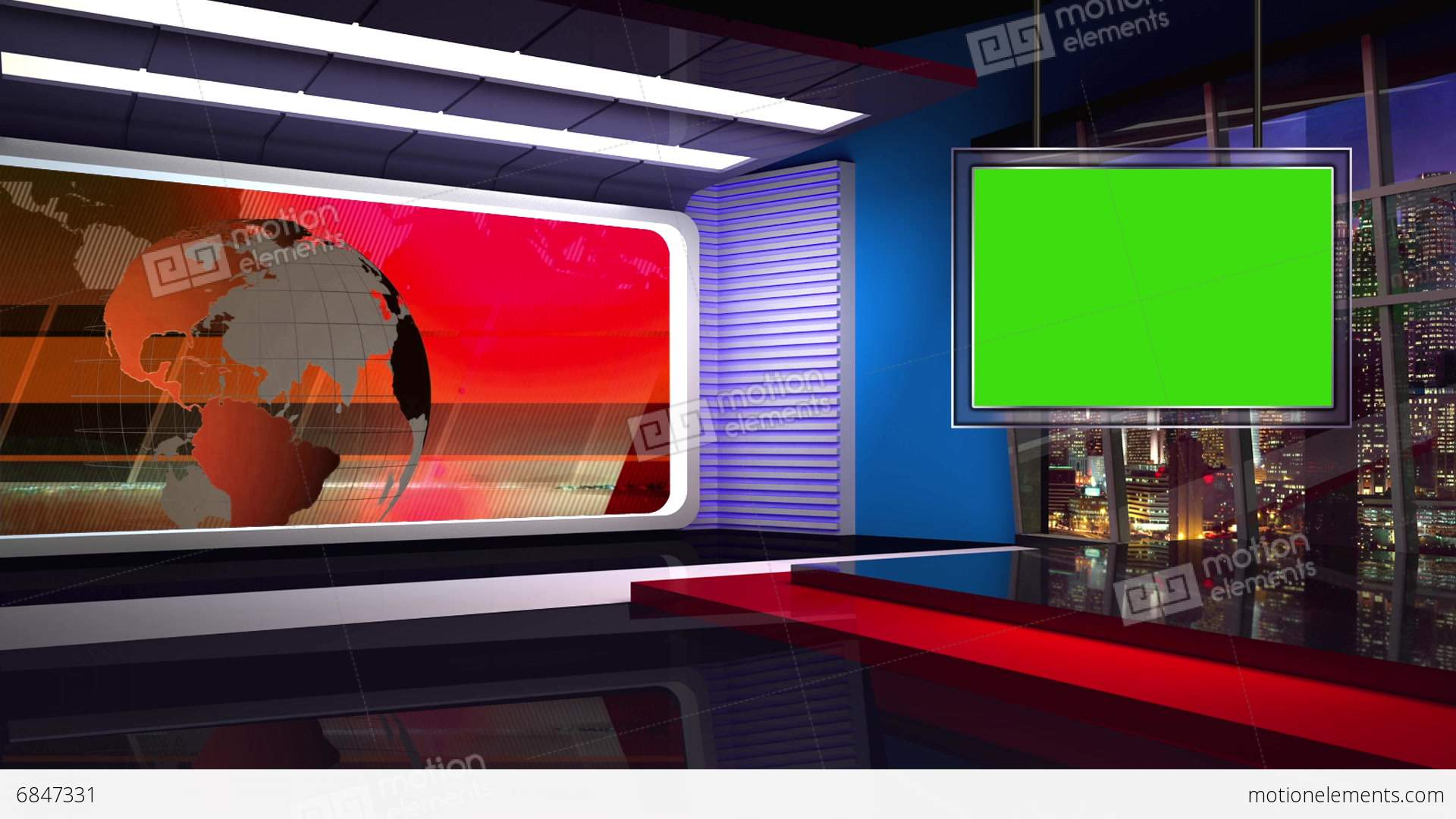 Virtual News Room Studio Sets & Backgrounds ...
