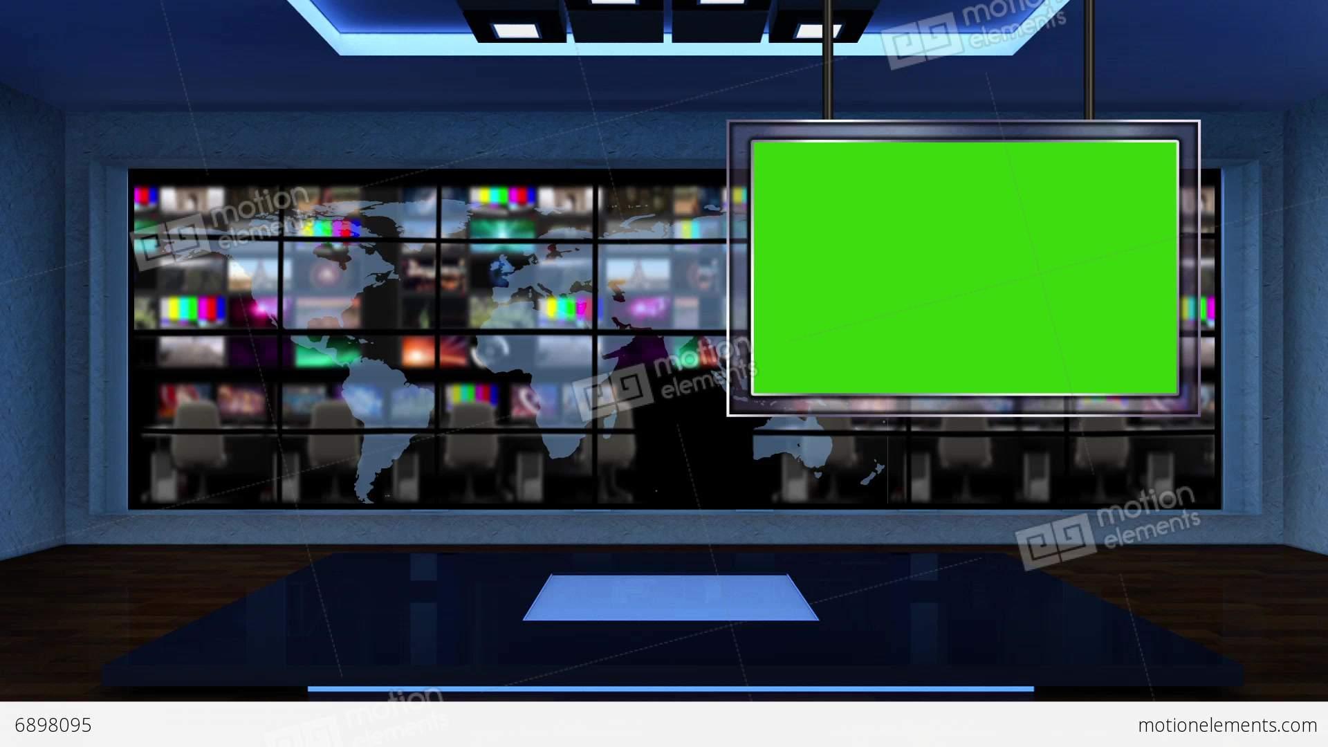 News TV Studio Set 52
