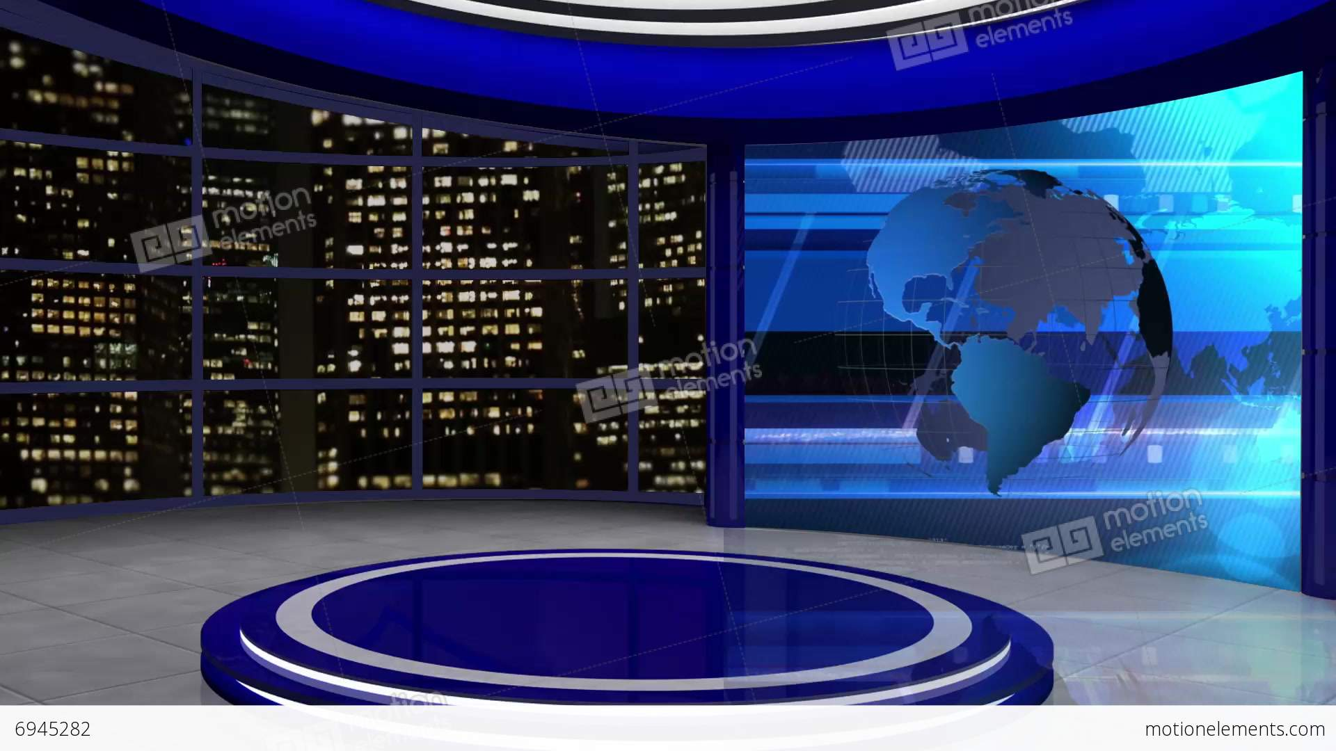 News TV Studio Set 61 Virtual Green Screen Background Loop Stock Video ...