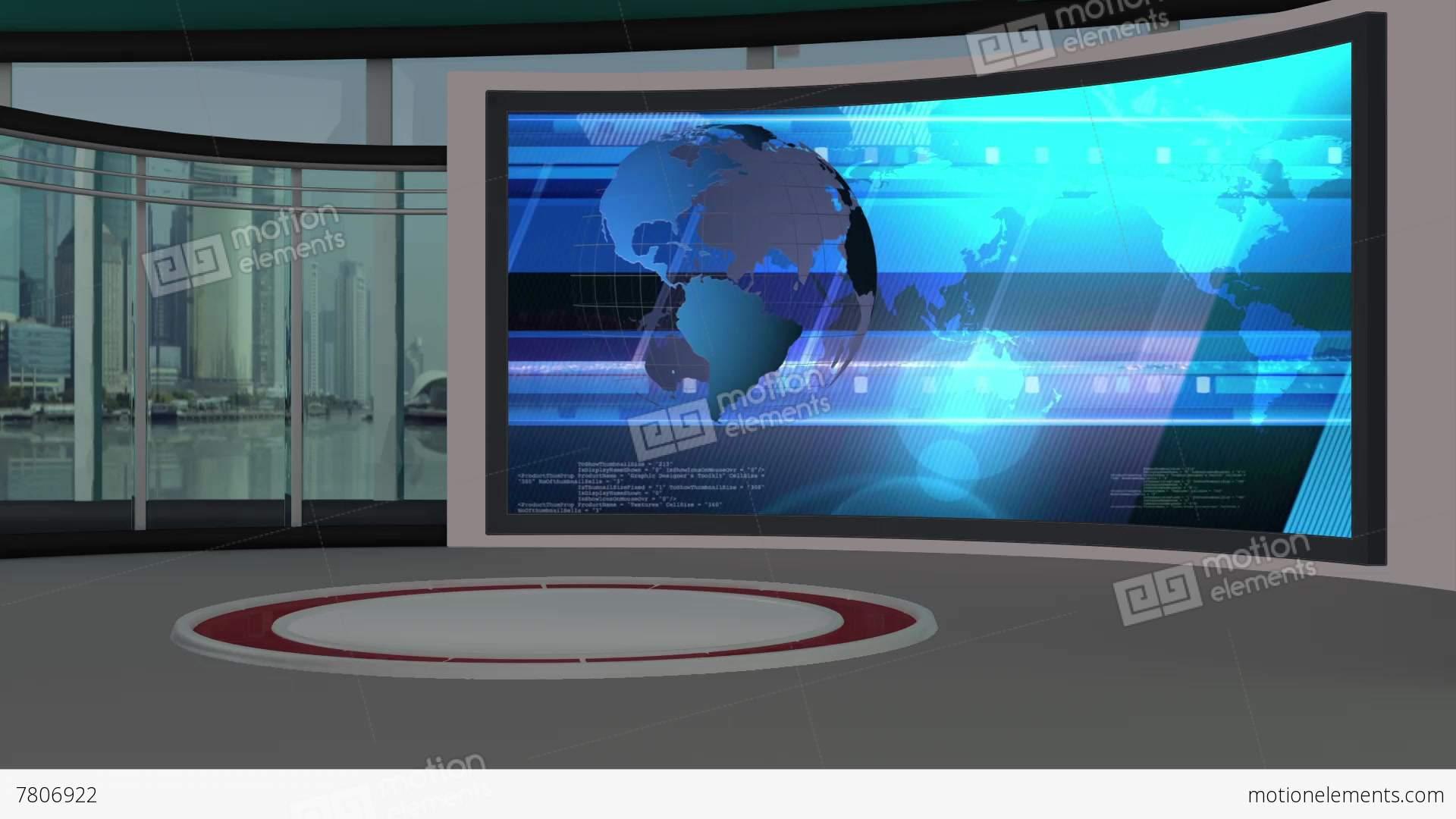 News TV Studio Set 79