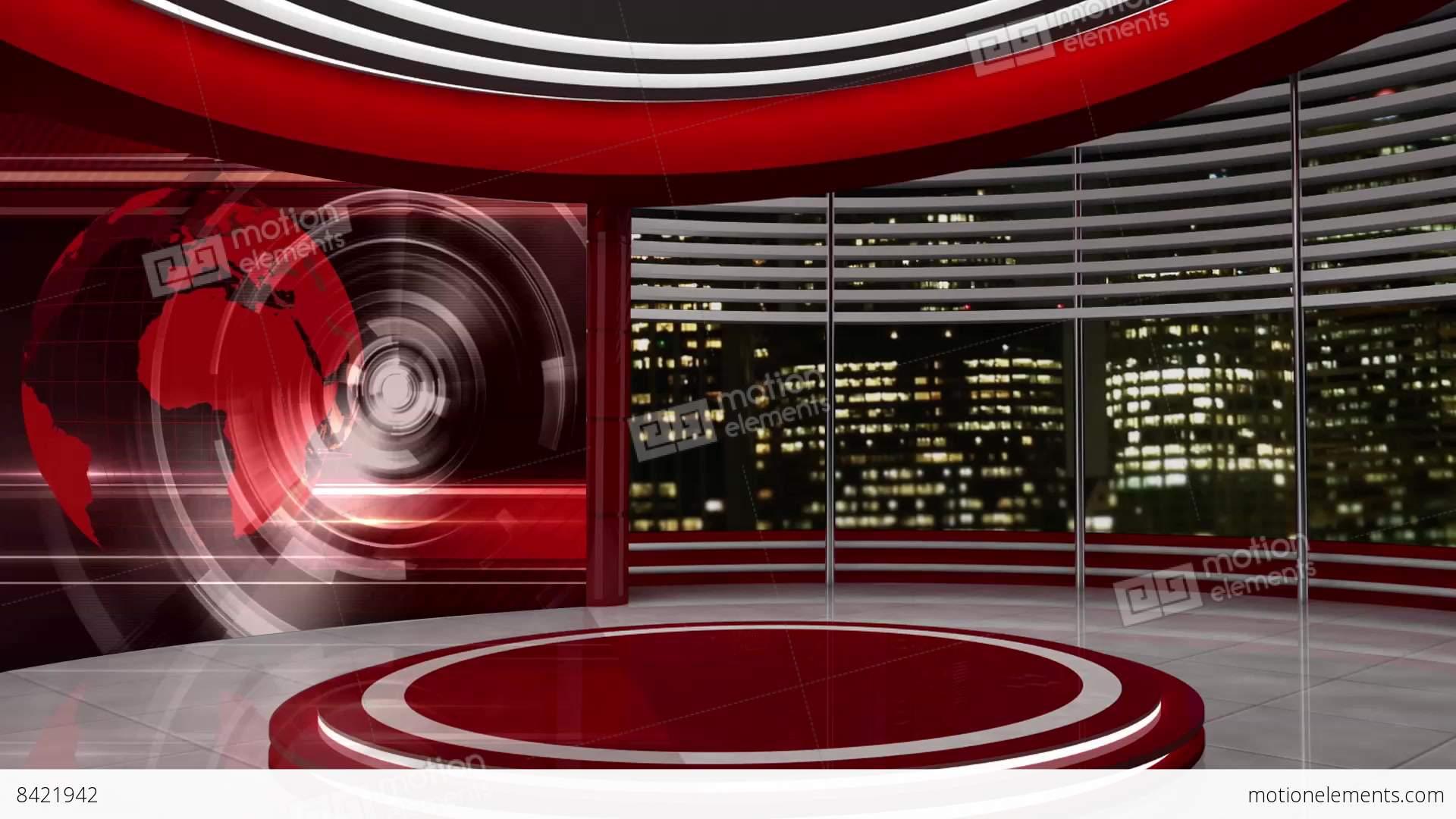 News TV Studio Set 54