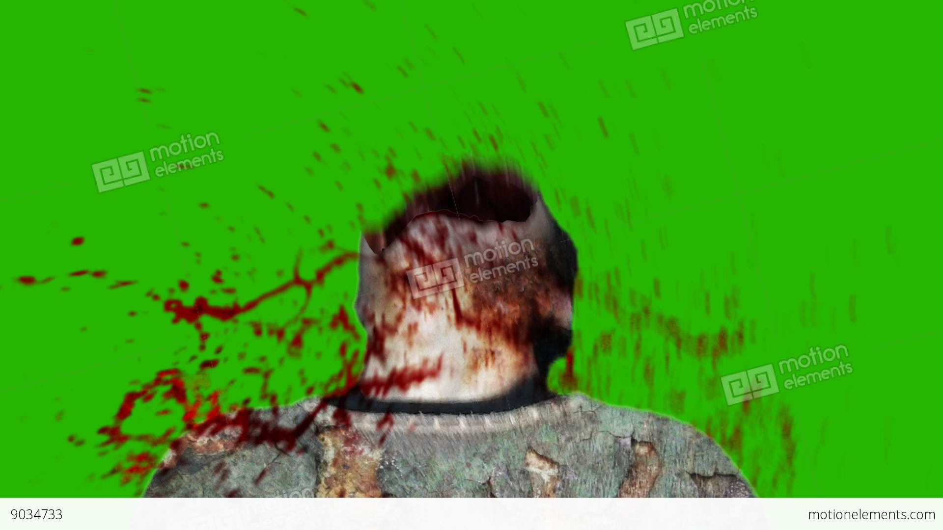 Green Screen Shoot Face Zombie Stock Video Footage 9034733