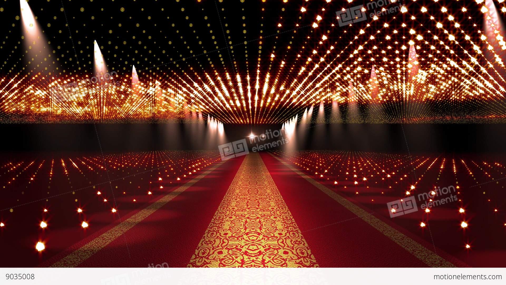 4 K Red Carpet Festival Glamour Scene Animation 4 Stock
