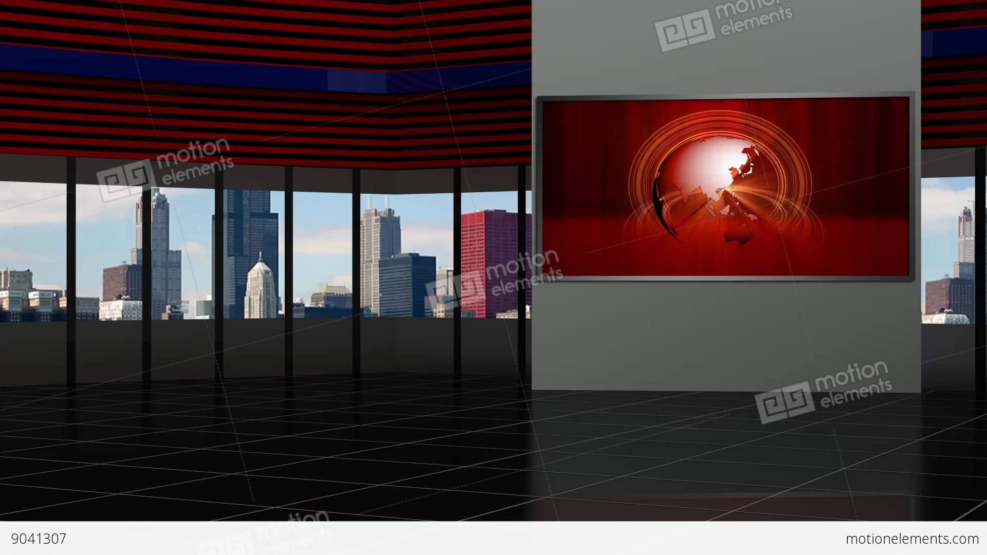 News TV Studio Set 92