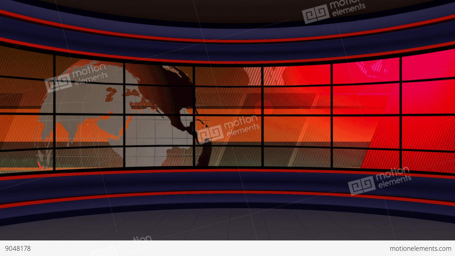 news tv studio set 98 virtual green screen background loop