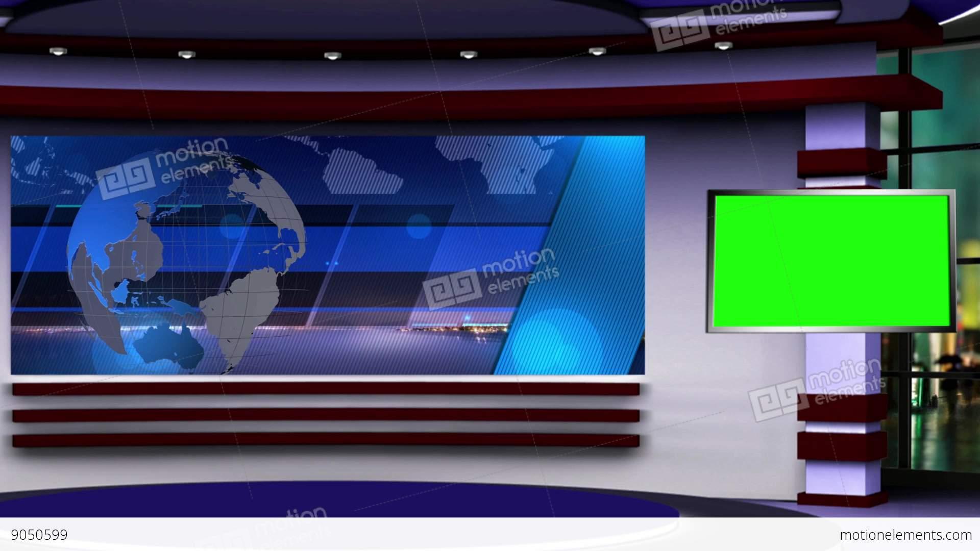 News TV Studio Set 107