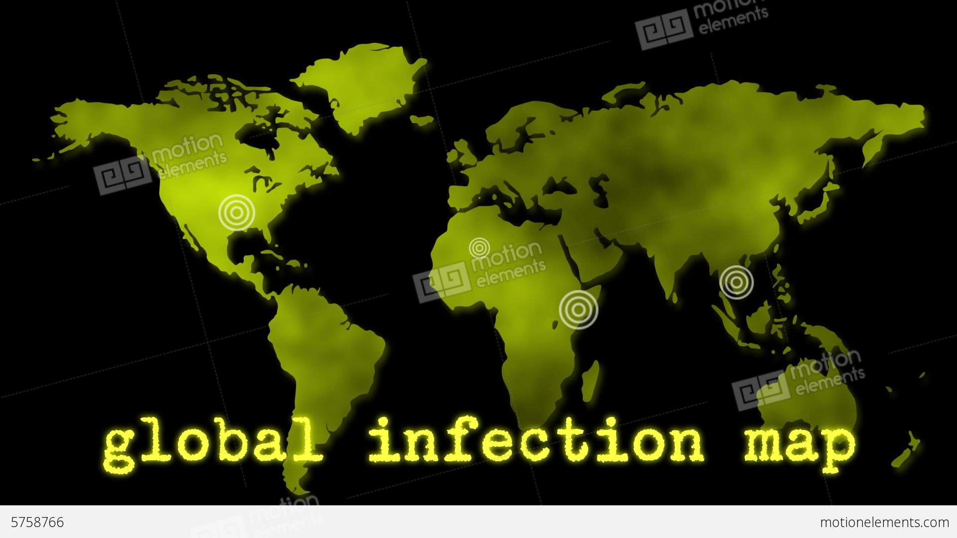 Yellow global infection map epidemic stock animation 5758766 yellow global infection map epidemic stock video footage publicscrutiny Gallery