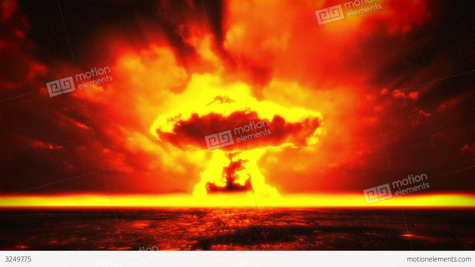 Nuclear Explosion 2 Stock Animation | 3249775