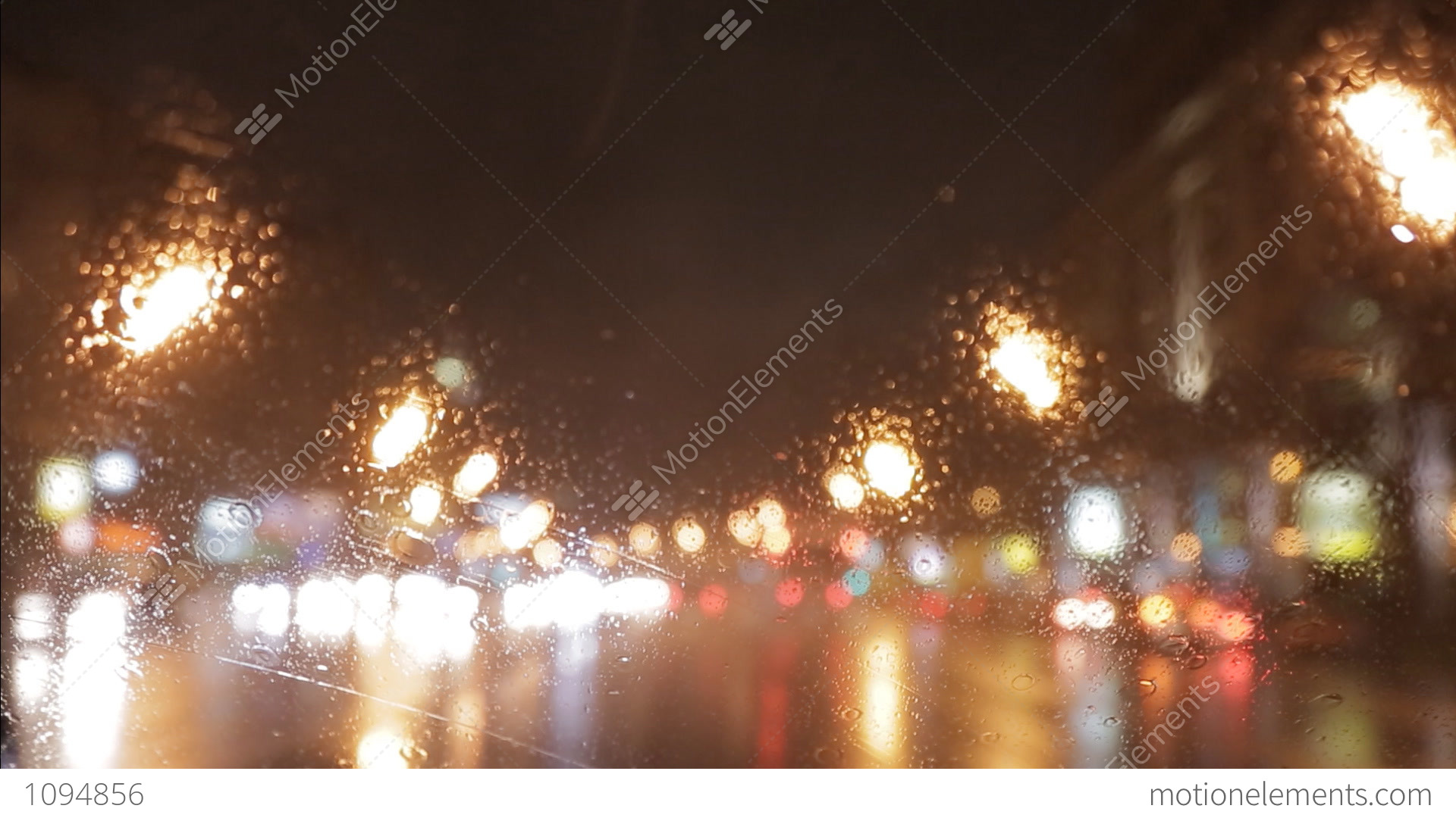car window rain night background defocused in motion stock video footage 1094856. Black Bedroom Furniture Sets. Home Design Ideas