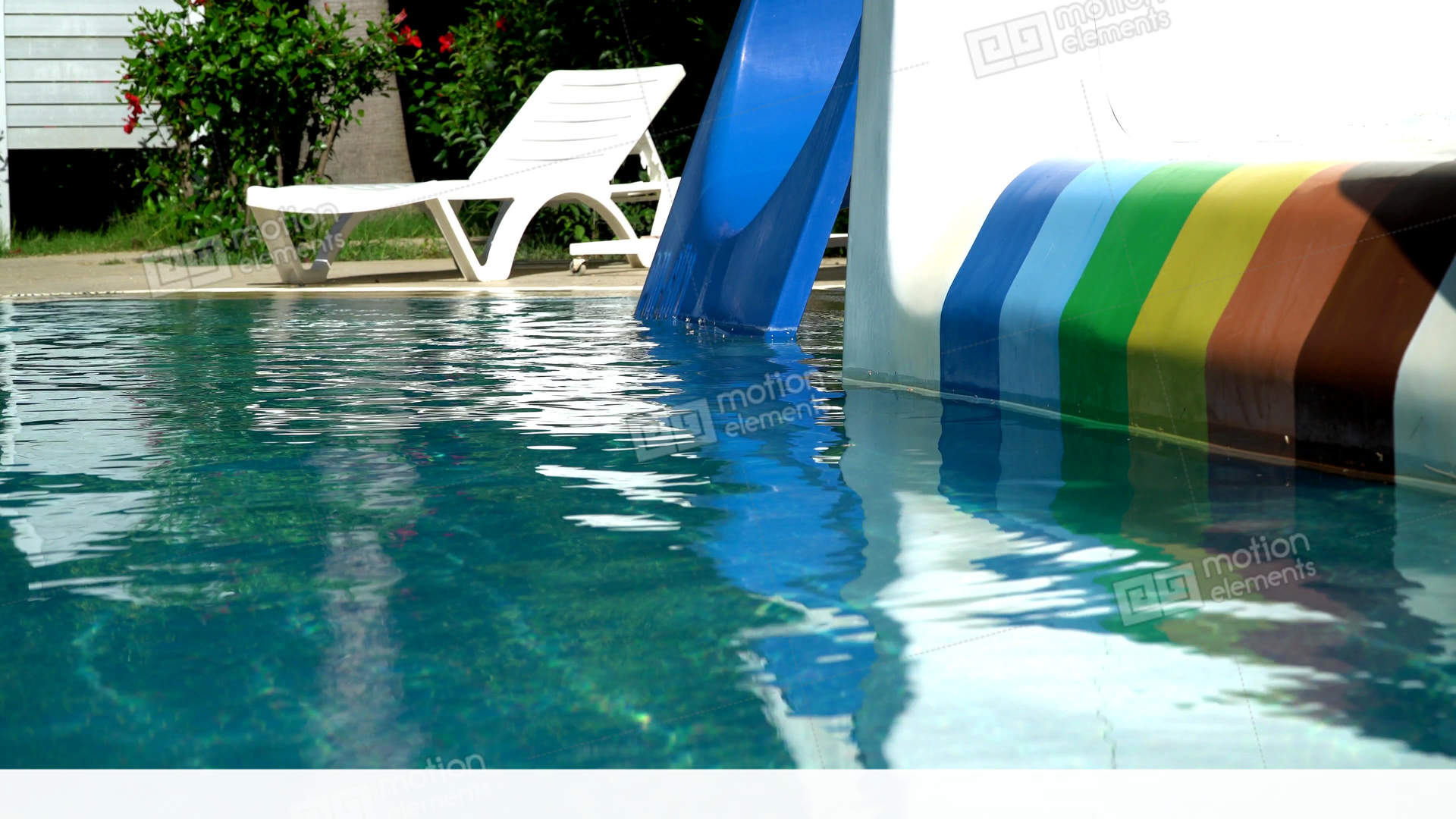 Empty swimming pool with slides stock video footage 11096908 for Empty swimming pool