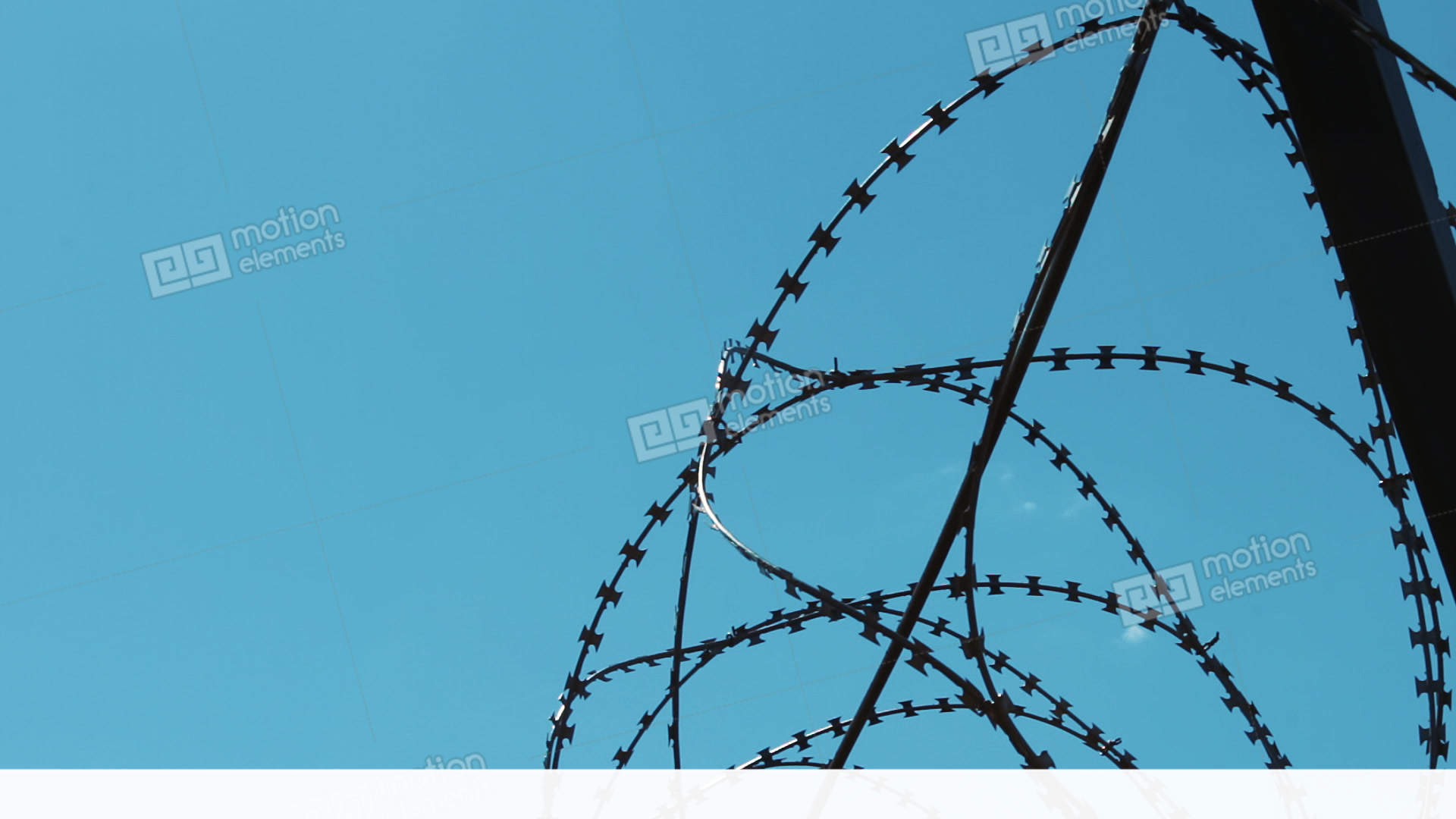 Barbed Wire On The Fence. Fencing Of The Enterprise. Closed ...