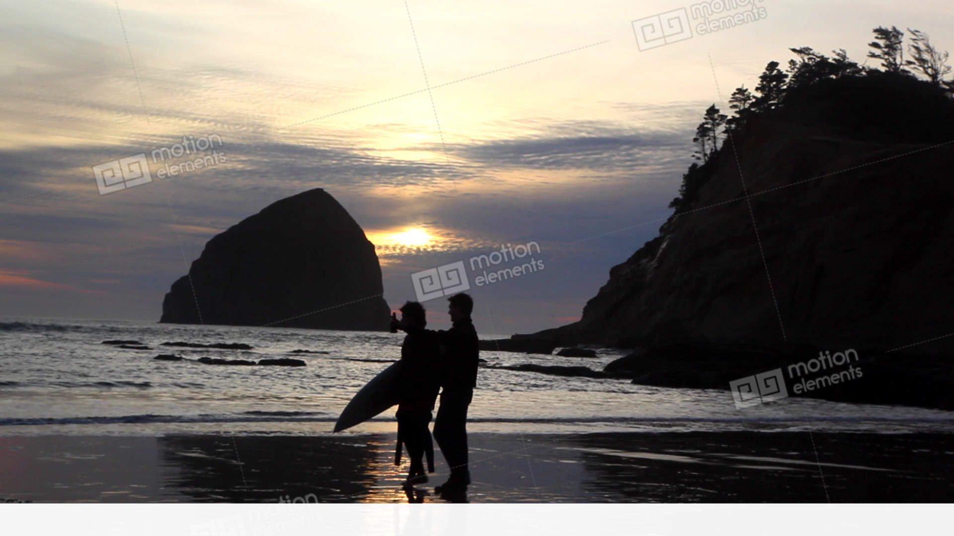 107008eef1 Oregon Surfer At Sunset Stock video footage