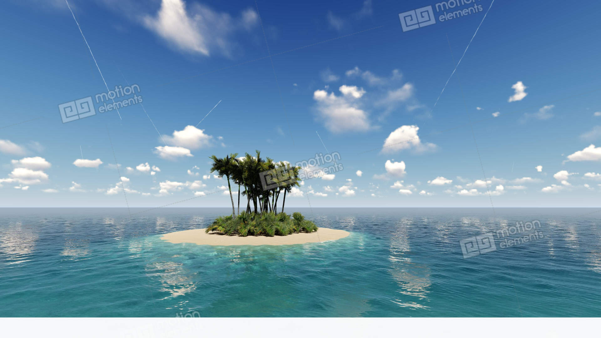 Tropical Island In The Ocean Stock video footage | 11541956