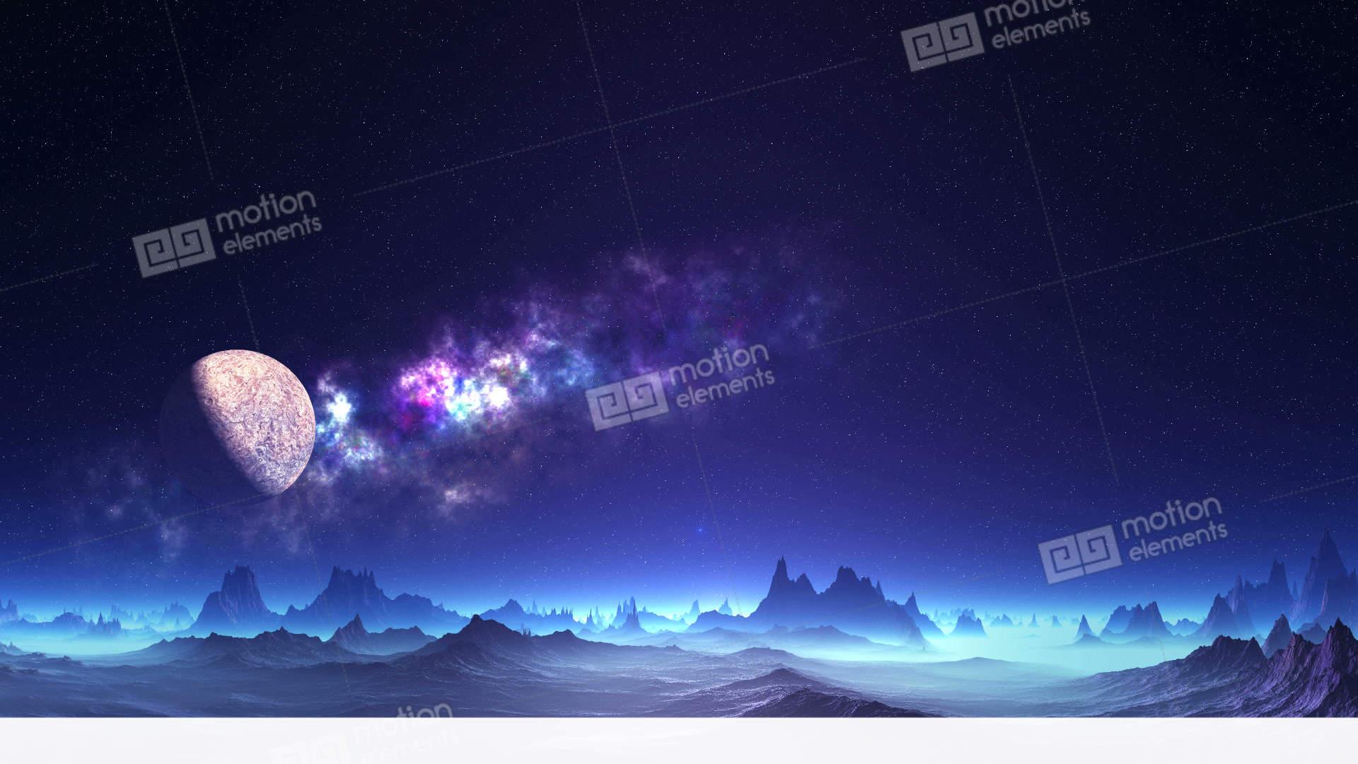 Beautiful Sunrise On Alien Planet Stock Animation 11725692