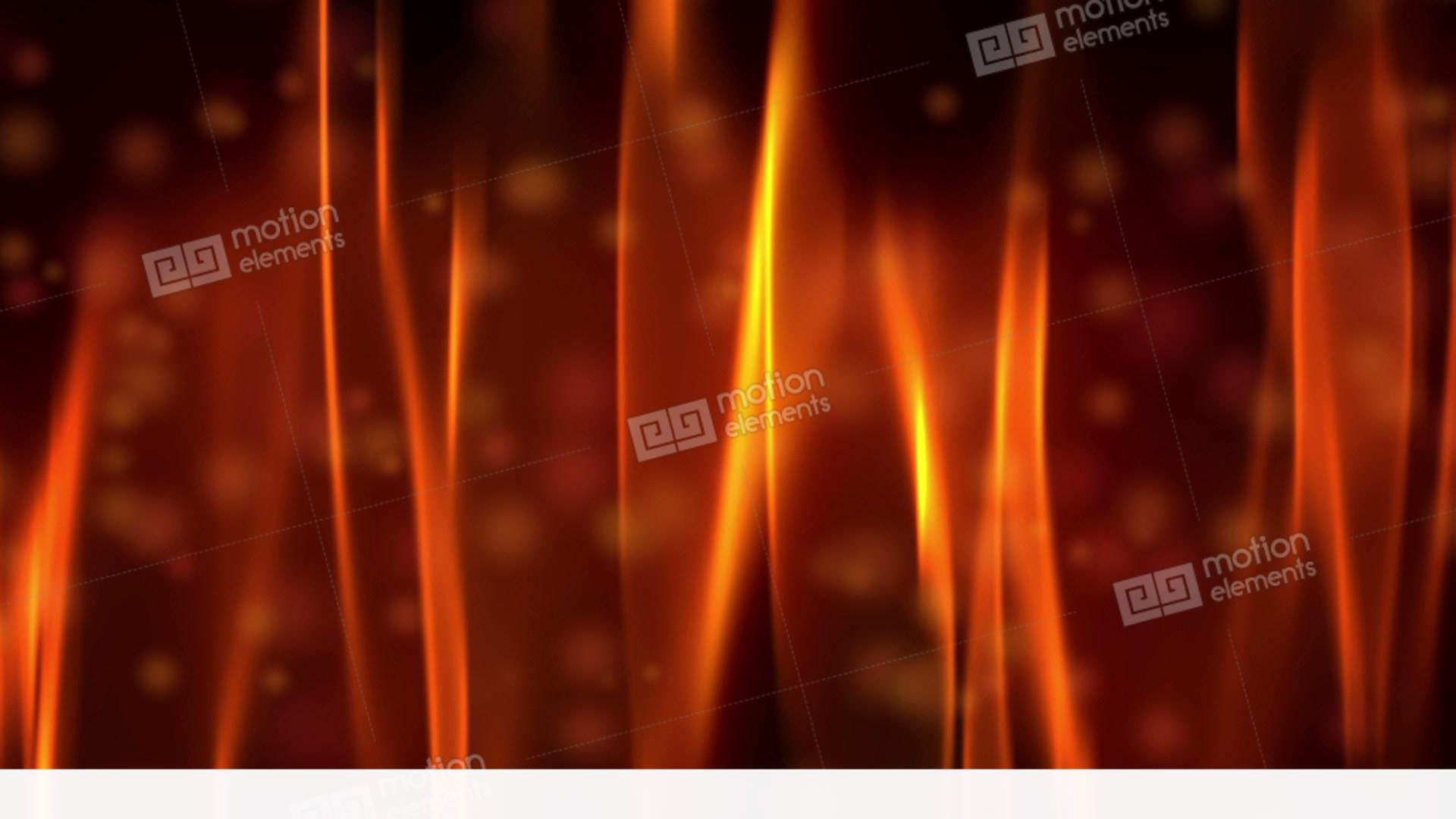 Red Fire Flame And Bokeh Stock Video Footage