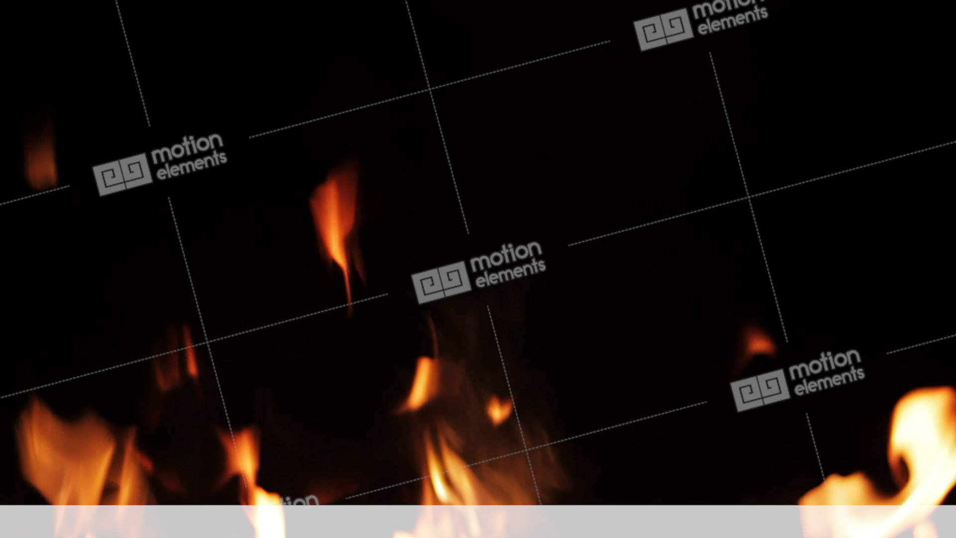 Real Fire Isolated On Black Background, Loop Video Stock Video